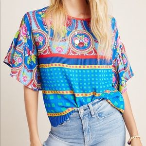 NEW Anthropologie Conditions Apply Selene Blouse